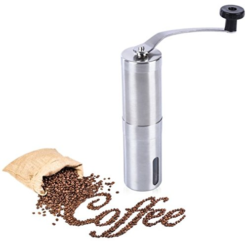 Stainless Steel Burr Coffee Grinder Manual Hand Coffee Maker Burr Corn Mill Grinders Portable Coffee Mill Machine Coffee Tools