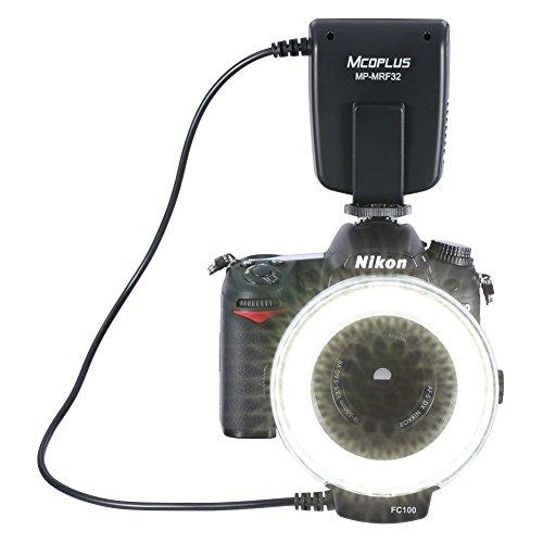 Mcoplus MP-MRF32 Universal Mount Macro Ring Flash Light Speedlite for Canon Nikon Pentax Olympus DSLR Camera (Powershot G2 Lens)