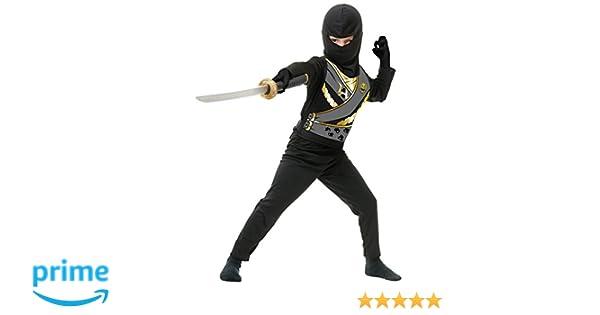 Charades Childs Ninja Avenger Series 4 Costume, Black, Medium