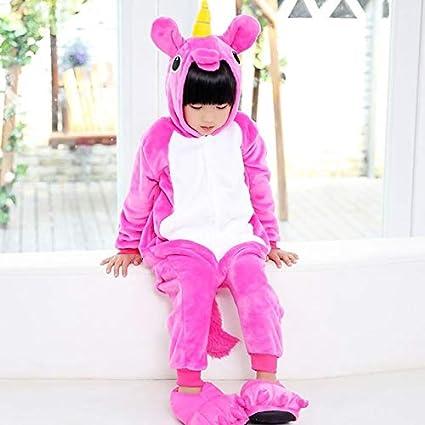 Pijama Unicornio Niños Pijama de Franela Animal Pegasus ...