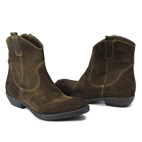 Taupe Camperos Personal Vera Italy Made 0442 Stivaletti Pelle Scamosciata Texani Bassi In Donna Shoepper t00rwS