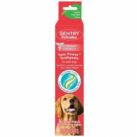 (Petrodex Twin Power Toothpaste for Puppies and Small Dogs, Poultry Fresh Mint Flavor, 2.5 oz)