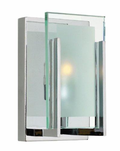 Hinkley 5650CM-LED, Latitude Glass Wall Sconce Lighting, 1 Light LED, Chrome (Hinkley Latitude)