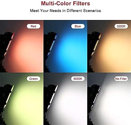 Luz de video LED, ESDDI 176 LED Ultra Brillante Regulable CRI 95+ ...