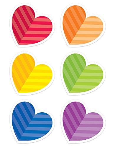 Creative Teaching Press Rainbow Hearts Designer Cut-Outs (3897) (Heart Cut Outs)