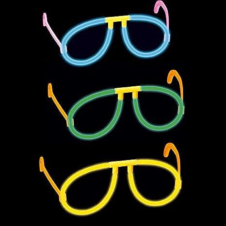 GLOW IN THE DARK GLASSES PINK NEON GLOW STICK HEN PARTY FESTIVAL FANCY DRESS
