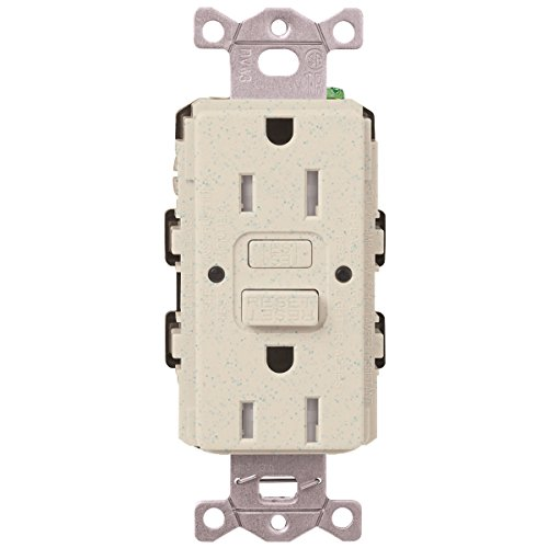 Lutron  SCR-20-GFST-LS  20-Amp  Tamper Resistant Self-Testing Receptacle, Limestone -  Lutron Electronics Company, Inc.
