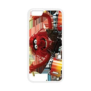 The Muppets Animal Drummer Playing Drums Funny White Background ,TPU Phone case for iphone6 4.7 inch,white
