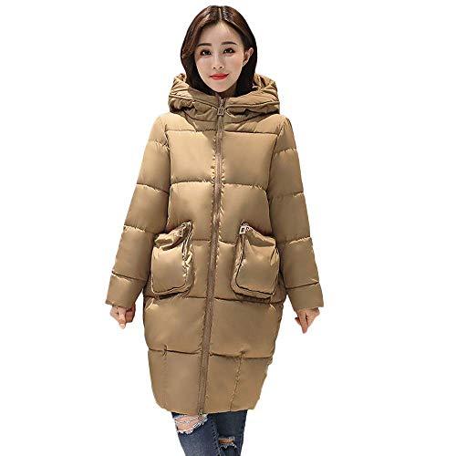 Mujer Falsa Ocio Medium Caqui Abrigo Al Cálido Para Libre Piel Tamaño Abrigos Chaqueta Color Invierno Gruesa Delgada De Moda Aire Damas wSSqOXR8