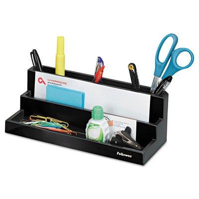 Designer Suites Desktop Organizer, 11 1/8 x 5 x 3 7/8, Black Pearl, Sold as 1 Each