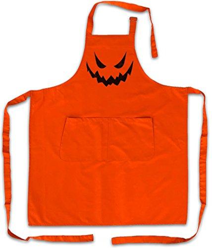 Urban Backwoods Glowing Halloween Pumpkin II Barbecue BBQ Kitchen Cooking Apron - Kürbis Horror Verkleidung glühend Leuchtend Trick or Treat Samhain USA Creature Splatter Gore ()