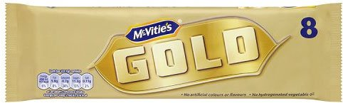 Gold Caramel Bar - McVities Gold Bars 8 Pack