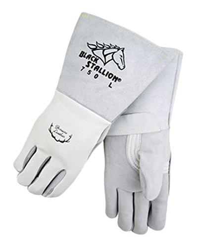 Revco 750-XL Black Stallion Welding Glove, Premium Grain Elk Skin, X-Large  (6 Pairs)