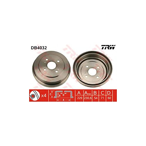 TRW DB4032 Brake Drums: