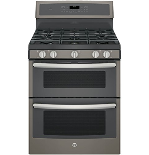 Ge Double Oven Stove (GE PGB960EEJES Profile 30-Inch Slate Gas Sealed Burner Double Oven Convection Range)