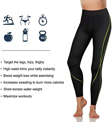 Rolewpy Women Neoprene Sauna Slimming Pants Hot Thermo Sweat Body Shaper Capri for Leggings 3