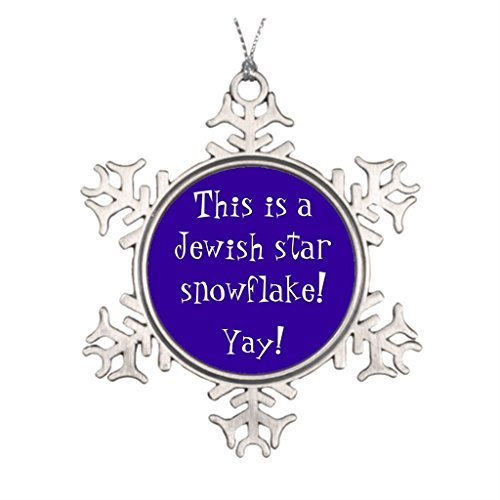 - Personalized Funny Jewish Star Snowflake Snowflake Pewter Christmas Ornament