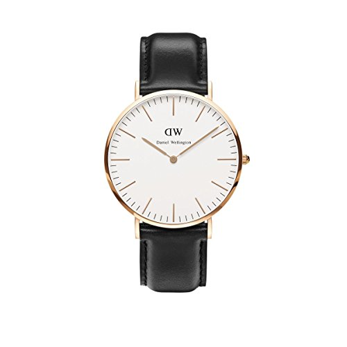 Daniel-Wellington-Uhr-Classic-Sheffield-Leder-schwarz-Herren-Leder-NEU