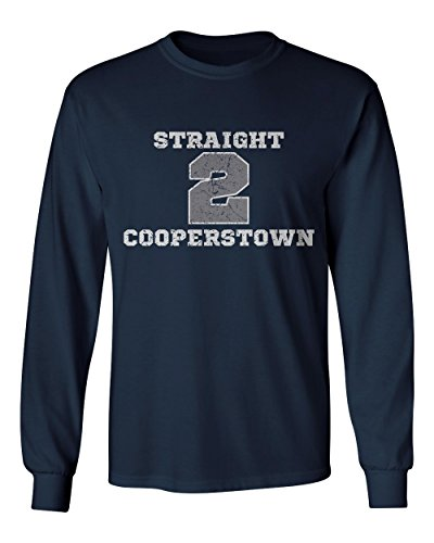 KINGS SPORTS New York Derek Jeter Straight To Cooperstown Men's Long Sleeve T Shirt (Cooperstown Long Sleeve)
