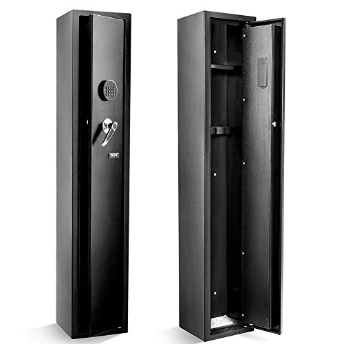 Superday Large 4 Rifle Electronic Gun Safe for Firearms with Internal Jewelry/Valuables Lockbox