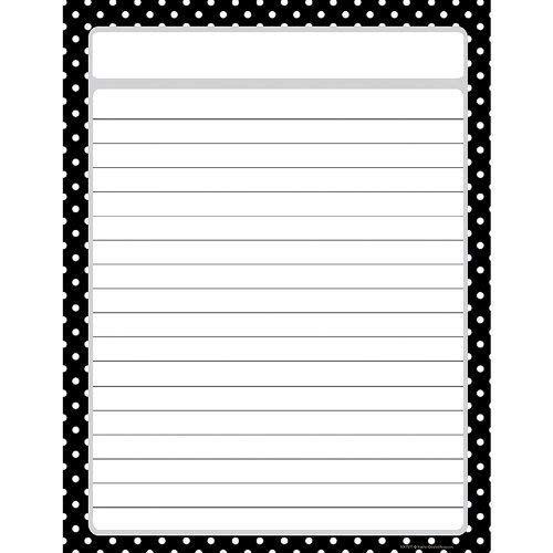 TEACHER CREATED RESOURCES BLACK POLKA DOTS CHART (Set of 12)