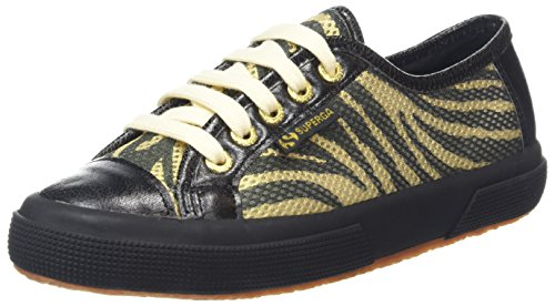 Superga Women's 2750 Animalmeshsynleaw Trainers Black (Zebra Gold Black/Black) supply online sale great deals outlet countdown package JVDGu