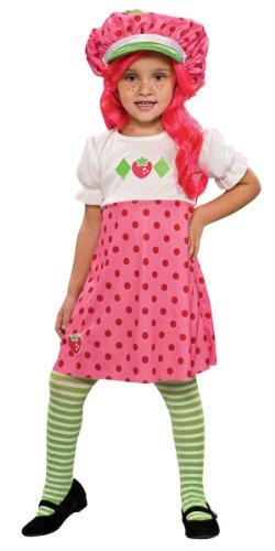 [Strawberry Shortcake Costume, Small] (Strawberry Halloween Costumes)