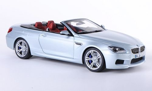 BMW M6 Convertible (F12), silver , 2012, Model Car, Ready-made, Paragon 1:18 (Bmw Convertible Toy Car)