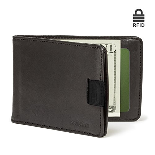 Union Shop (Distil Union - Minimalist Leather Slim Bifold Wallets with Money Clip, Credit Card Holder (Ink with Rfid Shielding))