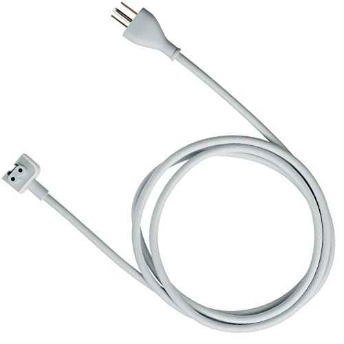 tesha MacBook Pro Charger Extension 45W, 60W, 65W and 85W Power Adapter Extension Cord For Apple MacBook/Pro/Air US 3 Prong-6feet/1Pack by tesha
