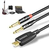 USB Guitar Cable 10Ft, NUOSIYA Line 2 1/4