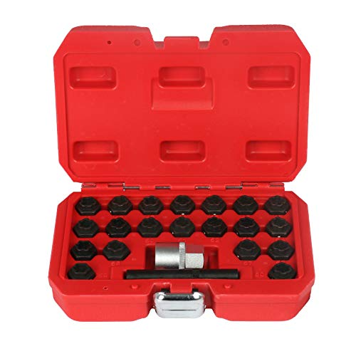 BELEY 22pcs Wheel Lock Key Removal Kit for BMW Series, Wheel Anti-Theft Lock Lug Nuts Screw Remover Socket Tool Set ()