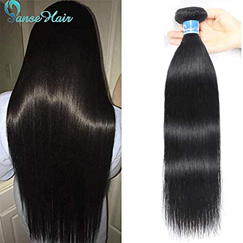 (Panse Hair Peruvian Straight Human Hair Single Bundles 10A Unprocessed Virgin Straight Hair Bundles 100% Human Hair Peruvian 1B Weave Bundles 22 Inch 100G for)