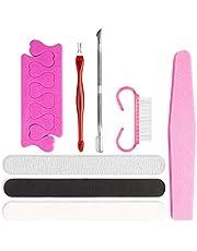 Limas de Uñas Profesionales, VIBIRIT Set Manicura 8 en 1 Kit de Manicura y Pedicura Kit de Manicura Para SalóN y Uso DoméStico Para UñAs Naturales UñAs de Gel