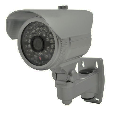 Vonnic VCB104S 1/3″ CCD Outdoor Night Vision Bullet Camera, 480 TV Lines Resolution – Silver