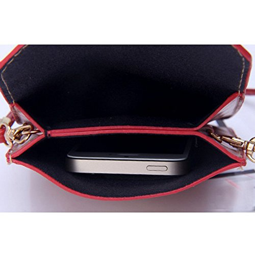 Phone Cell Small Leather Winered Weave Bag Crossbody Donalworld Bag PU qwvPRExE5