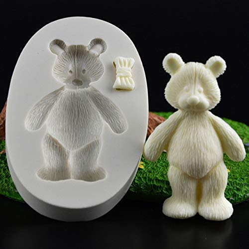 3D Baby Party Silicone Cake Molds Cute Teddy Bear Couple Chocolate Candy Moulds Fondant Cake Decorating Kitchen Baking Tools - (Color: A)