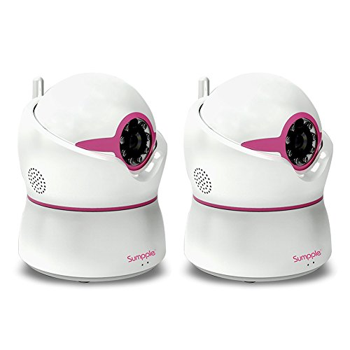 Sumpple 2X Wireless WiFi Pan/Tilt Baby Video Monitor Camera