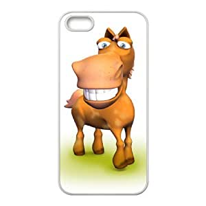 3d horse wallpaper iPhone 5,5S Case White by icecream design