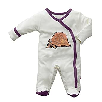 Babysoy Baby-girls JB Footie 0-3 months Tortoise