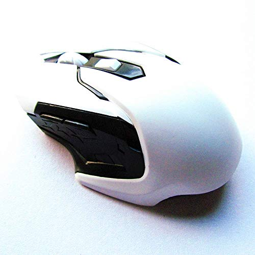 Ergonomic Wireless Mobile Optical Mouse with USB Receiver for Laptop, PC, Computer, Notebook, 3-DPI Setting Levels Keyboards, Misc. Accessories (Color: Red) (Color : White, Size : -)