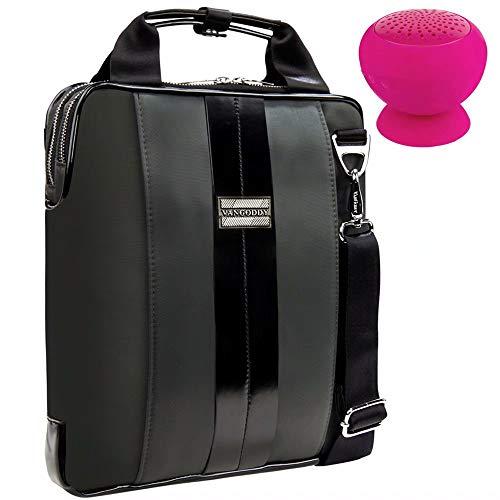 (Laptop Bag + Mini Wireless Suction Speaker Fit HP Spectre x360 13-inch/EliteBook 830 G5 / x360 1030 G3 / Envy x2 / 13t / Chromebook x360 11 G1 / Asus ZenBook 13 UX333FA / S UX391UA / UX331UAL)