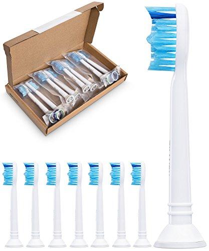 8er Pack demirdental HX6018 Bürstenkopf für Philips Sonicare Ersatzbürsten ProResults passend für DiamondClean FlexCare EasyClean PowerUp und HealthyWhite Aufsteckbürsten
