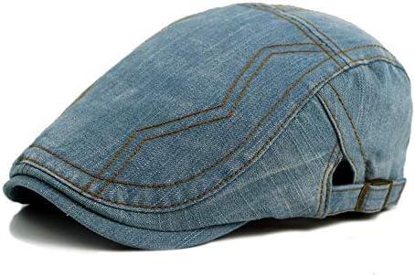 帽子 ハンチング帽子 メンズ レディース キャスケット 日よけ 調整可能 ハット SGSJP (Color : 水色, Size : 56-58cm)