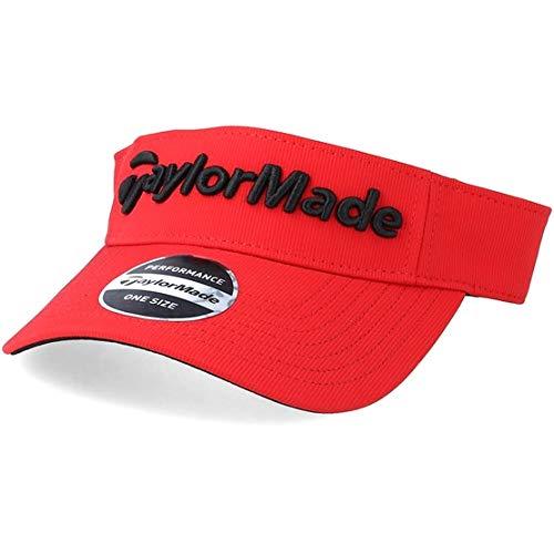 TaylorMade Golf 2018 Mens Performance Radar Adjustable Golf Visor Red