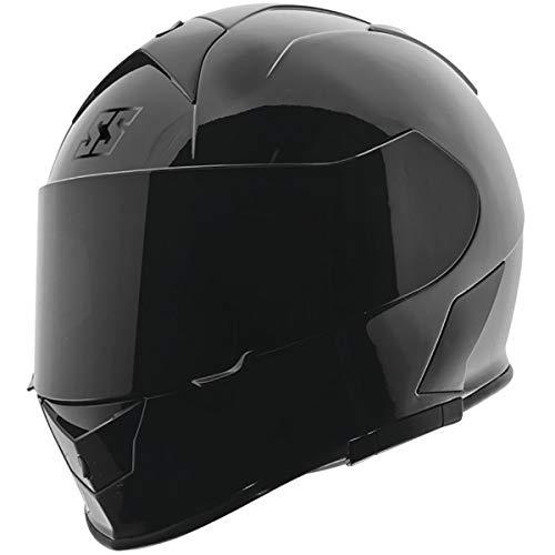 Street Helmet Gloss - Speed and Strength SS900 Solid Adult Street Motorcycle Helmet - Gloss Black/Large