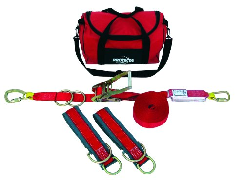 3M Protecta PRO-Line 1200101 3M Protecta 60' Horizontal Lifeline System with Two 6' Tie Off Adaptors and Carrying Bag, Color Red
