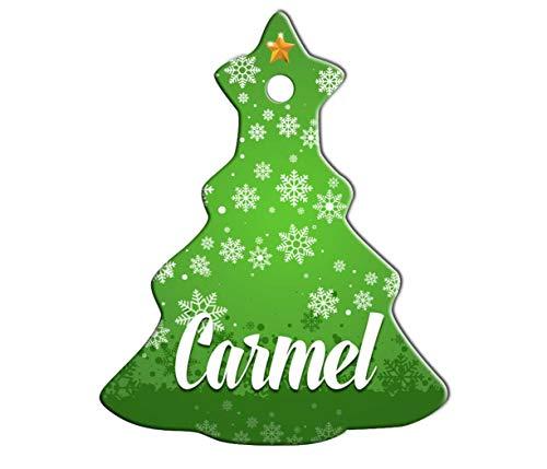 (Makoroni - Carmel Female Name Christmas Ornament (Chrismas Tree) - Chrismas Tree Holiday Christmas Baby Shower Wedding)
