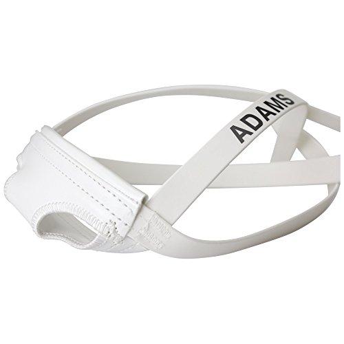 Adams USA MG 550 Football Chin Strap, White, Varsity