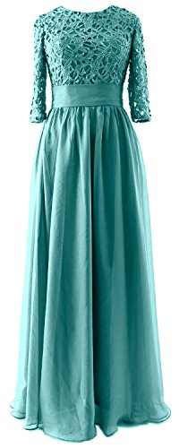 Of Macloth Long Half Turquoise Lace Dress Sleeve Bride Mother Party Wedding Evening Gown QBxerdCoWE